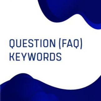 Question (FAQ) Keywords